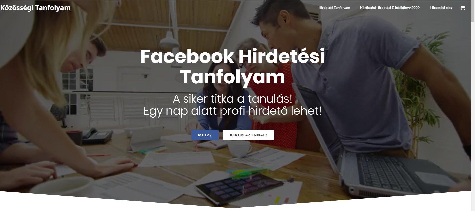 Facebook hirdetés tanfolyam