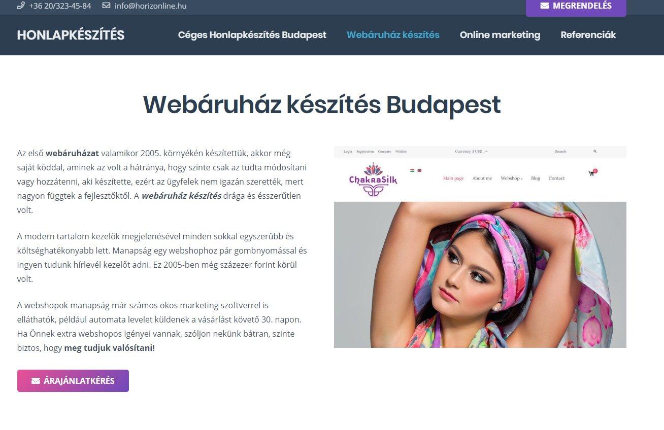Webshop készítése profiktól